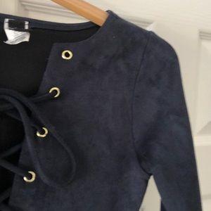 LIKE NEW Suede-like Deep Navy Dress
